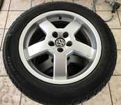 "Alu kolo VOTEX 6.5x16"" ET42, 5x100x57 a Michelin Alpin 205/55 R16 91H 60%"